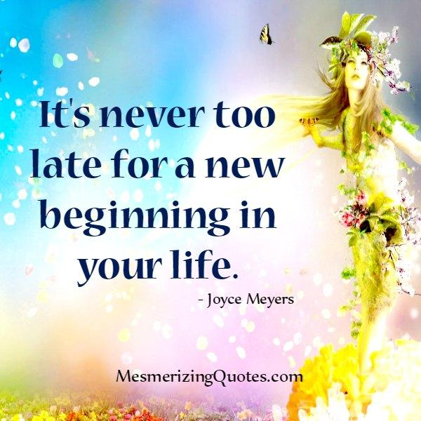 A New beginning in your life
