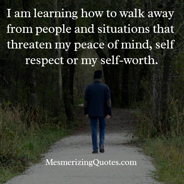 How to walk away from people?