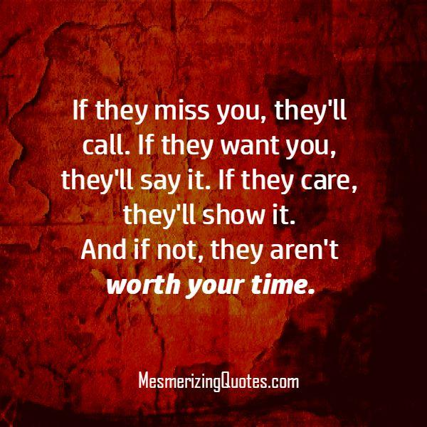 If people care about you, they will show it
