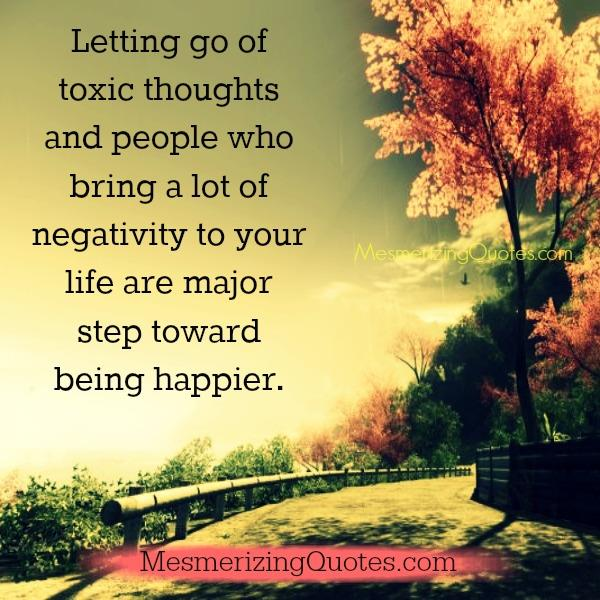 Letting go of toxic thoughts