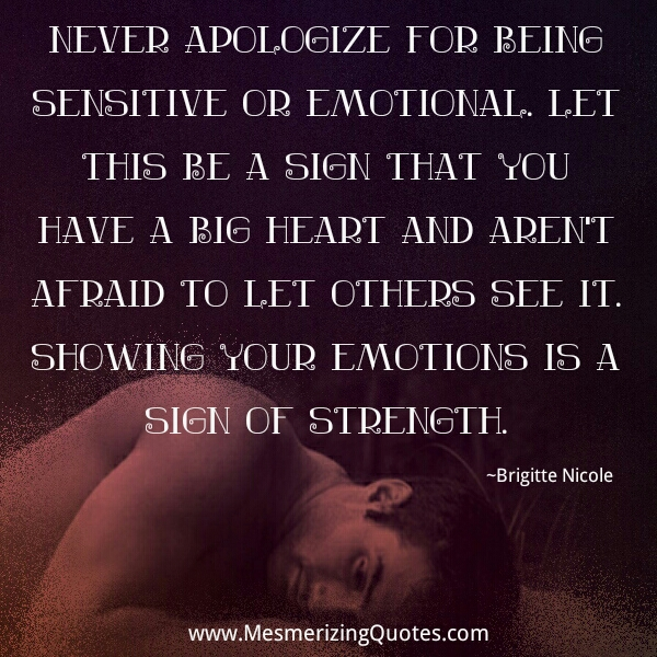 Being Emotional Quotes. QuotesGram