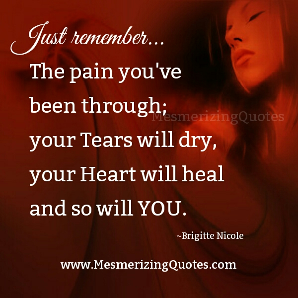 The Pain that you have been through