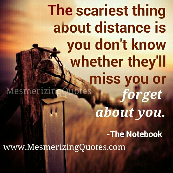 The scariest thing about distance between two person