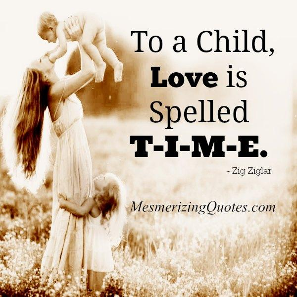 To a Child, How Love is spelled?