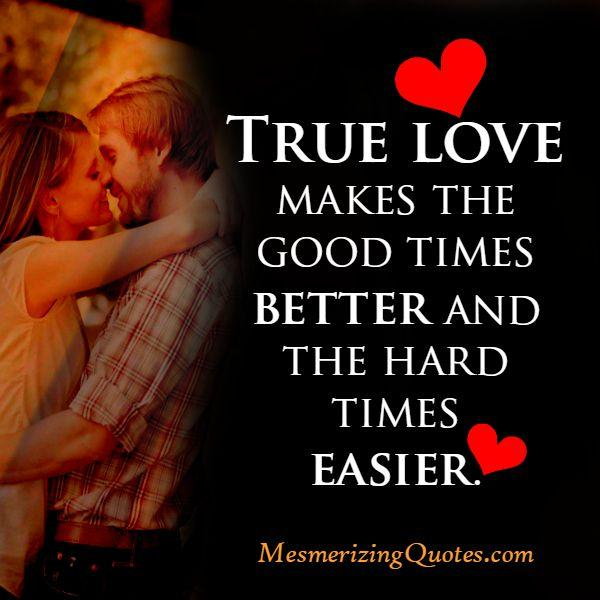 What's difference true love makes to your life?