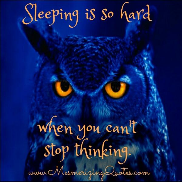 When sleeping is so hard