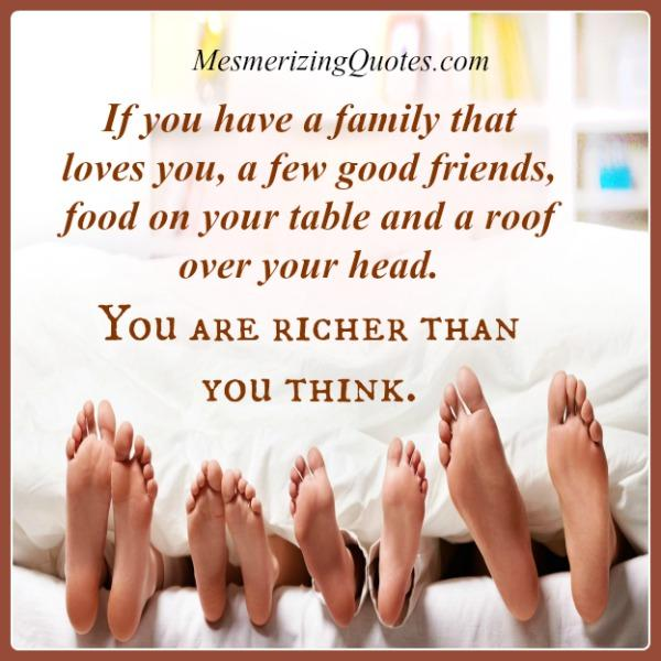 When you are richer than you think?