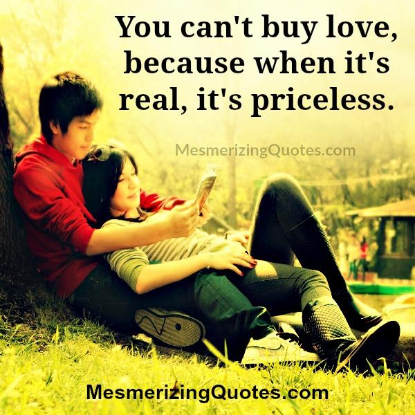You can't buy true love